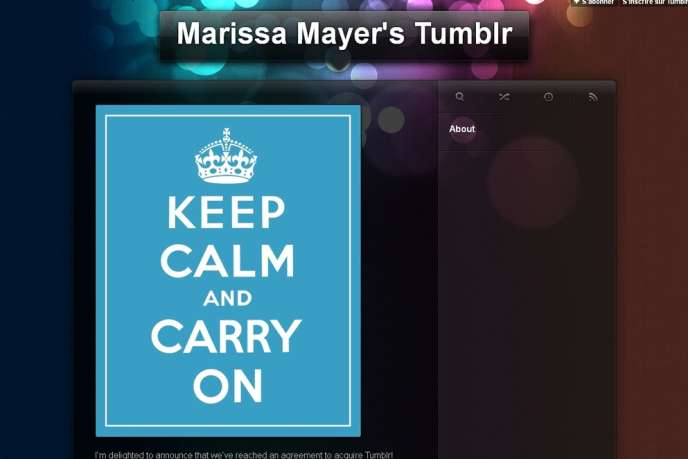 Une capture du Tumblr de Marissa Mayer.