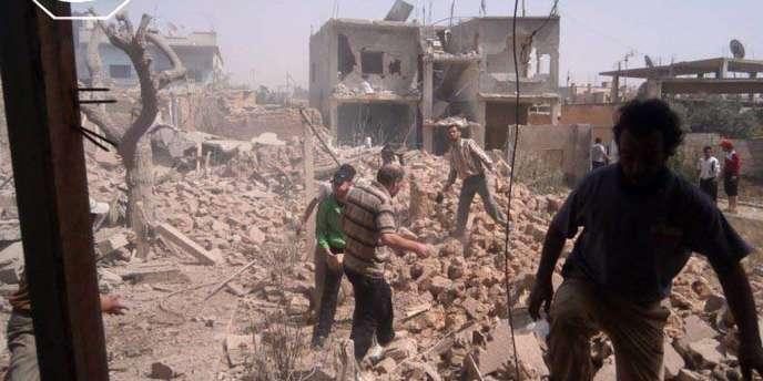 Le Hezbollah se bat aux côtés de l'armée syrienne. Ici à Qoussair, le 18 mai 2013.