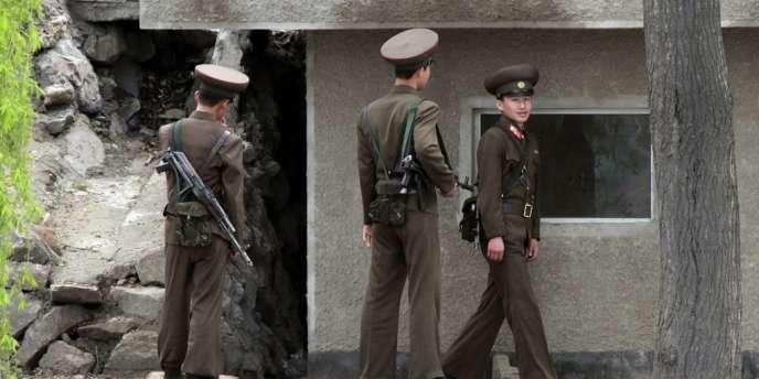Photo prise à Sinuiju, en Corée du Nord.