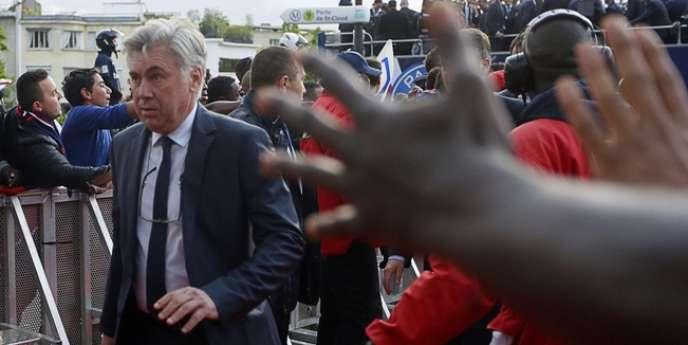 Carlo Ancelotti, le 13 mai à Paris.