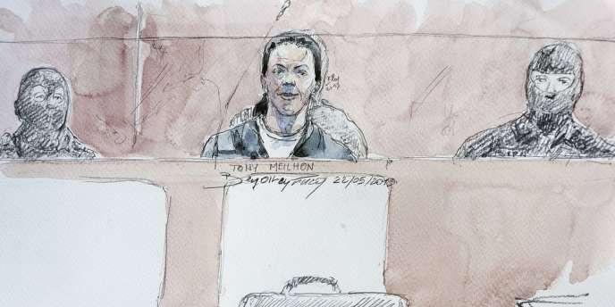 Tony Meilhon, lors de l'ouverture de son procès à Nantes, le 22 mai.