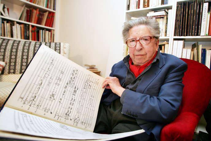 Henri Dutilleux, en juin 2005, chez lui.