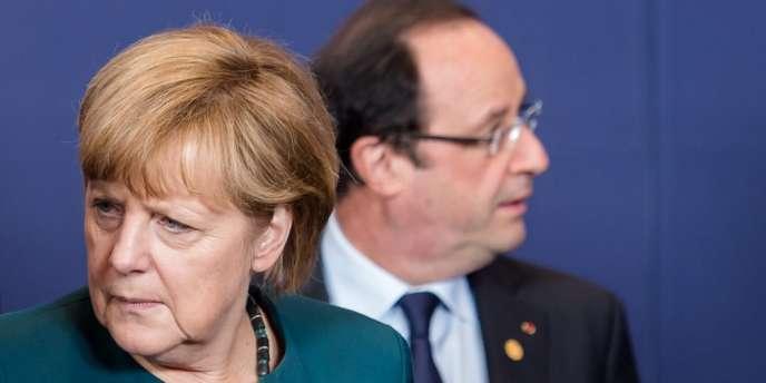 François Hollande et Angela Merkel lors du sommet européen du 22 mai 2013 à Bruxelles.