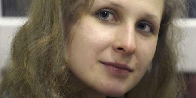 Maria Alekhina lors d'une audience à Berezniki, le 16 janvier dernier.