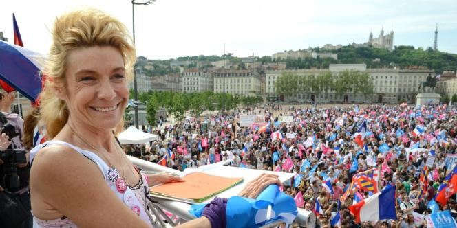 Frigide Barjot à Lyon, le 5 mai 2013.