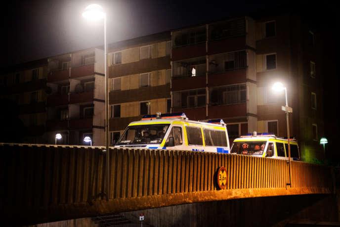 A Husby, dans la banlieue de Stockholm dans la nuit du lundi à mardi 21 mai.