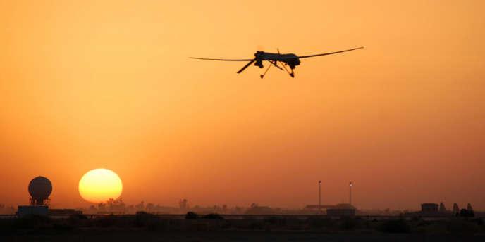 Un drone américain en Irak, en 2007.