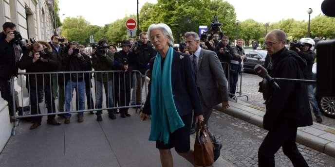 Christine Lagarde à son arrivée à la Cour de justice de la République, le 23 mai 2013.