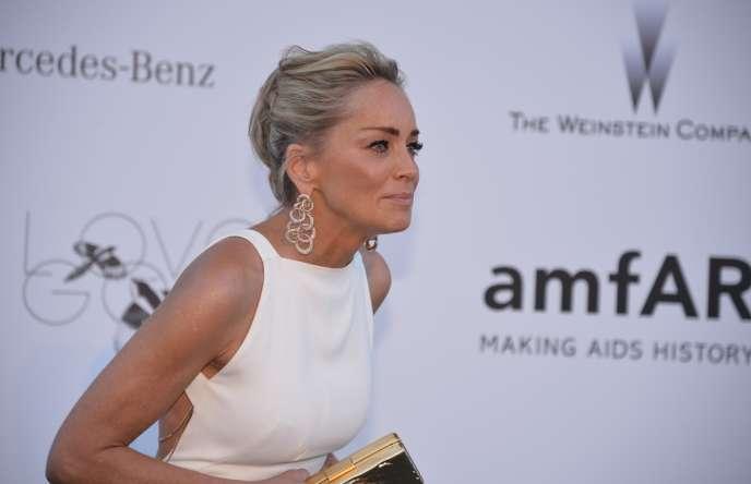 Sharon Stone lors du 20e gala de l'amfAR à l'hôtel Eden Roc au Cap d'Antibes, le 23 mai 2013.