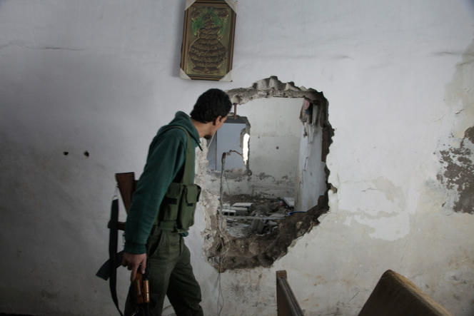 Dans le quartier de Jobar, le 4 avril, les combattants de la brigade Tahrir Al-Sham (