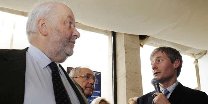 André Rossinot et son successeur, Laurent Hénart, en février 2010 lors de l'inauguration de la permanence UMP de Meurthe-et-Moselle.