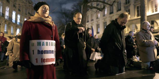 Pour nombre de responsables de l'Eglise catholique, le bilan du combat menécontre le mariage pour tous est