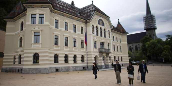 Bâtiment du gouvernement du Liechstentein, le 15 mai 2013.