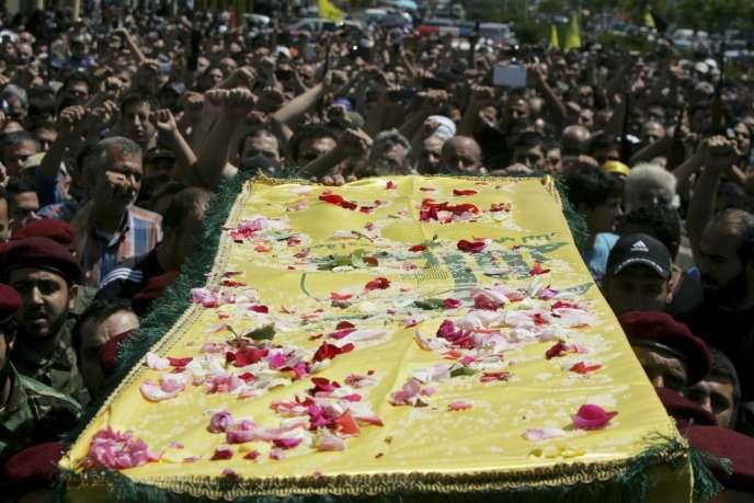 Funérailles d'un militant du Hezbollah, le 26 mai, à Beyrouth.
