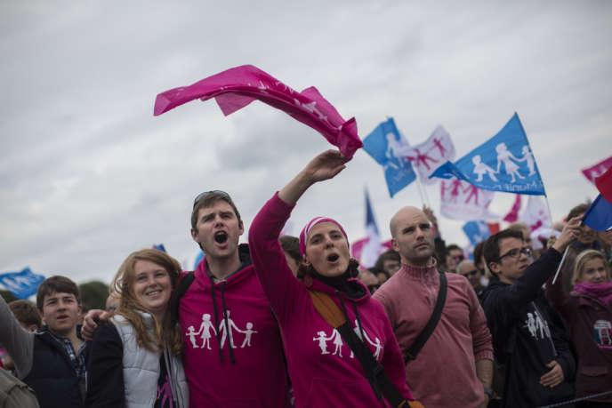 Manifestation contre le mariage homosexuel à Paris le 26 mai.