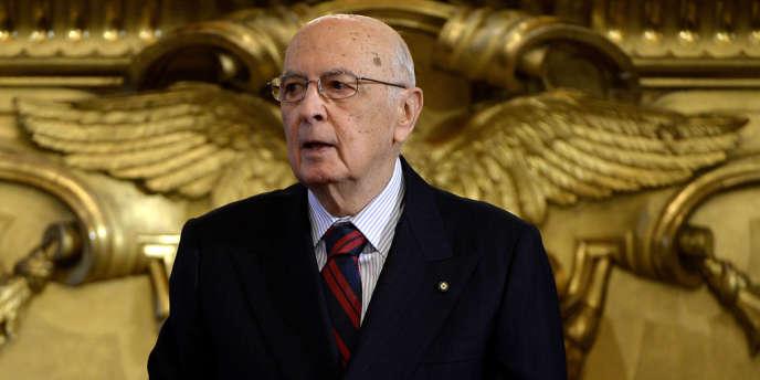 Le président Napolitano, le 28 avril 2013.