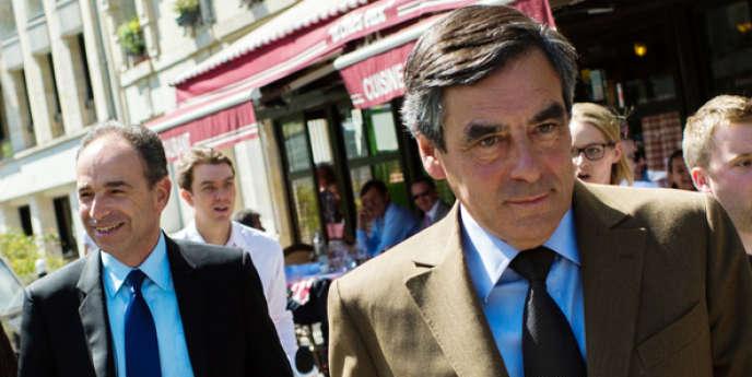 François Fillon et Jean-François Copé, après un déjeuner, le 24 mai 2013.
