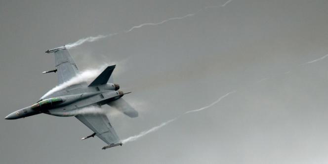 Un chasseur F-18, un des avions auxquels les hackers ont eu accès.