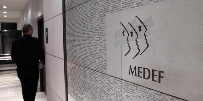 Au siège du Medef, en janvier 2013.