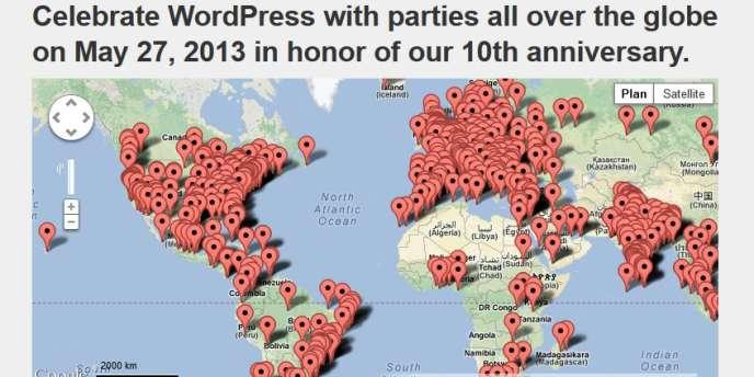 Wordpress, dix ans et 66 millions de sites