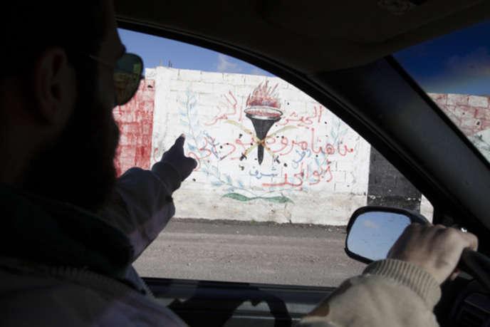Sakha, à l'entrée de Yabroud, sur le mur d'une caserne militaire prise par l'ASL :