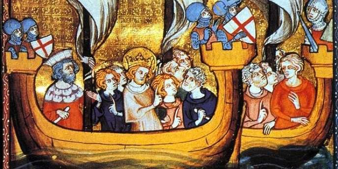 L'arrivée de Saint Louis à Nicosie en 1248, au cours de la troisième croisade.