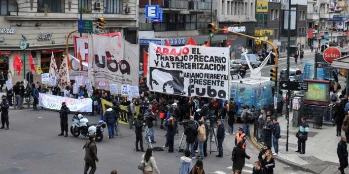 Un mouvement syndical, le 29 mai à Buenos Aires.