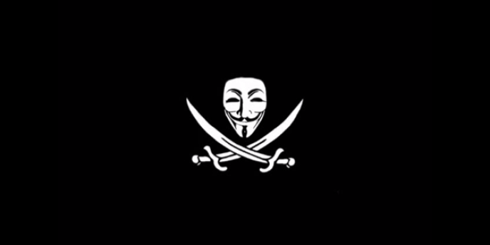 Capture d'écran de la vidéo des Anonymous britanniques sur YouTube s'en prenant à l'English Defence League.