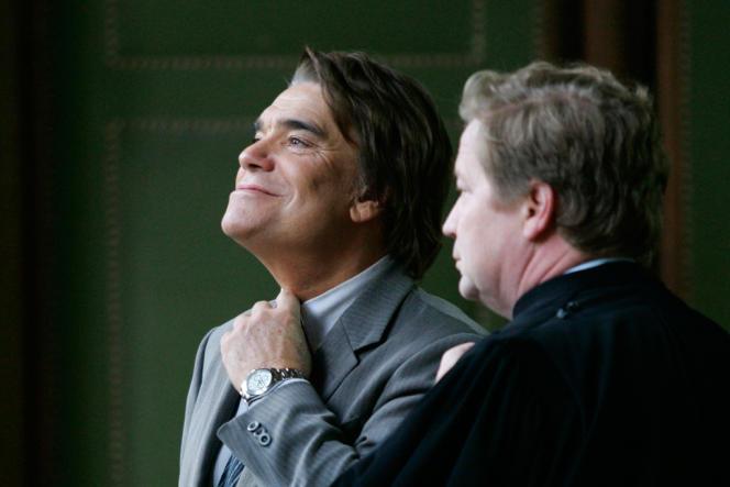 Bernard Tapie et son avocat Maurice Lantourne, en 2005.