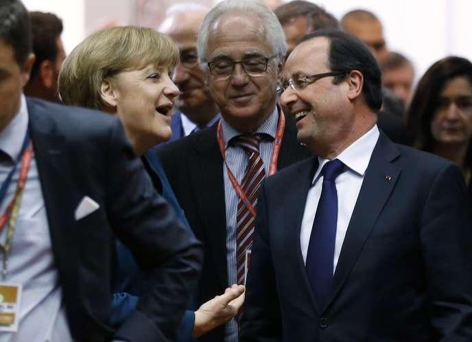 Angela Merkel et François Hollande, le 22 mai à Bruxelles.