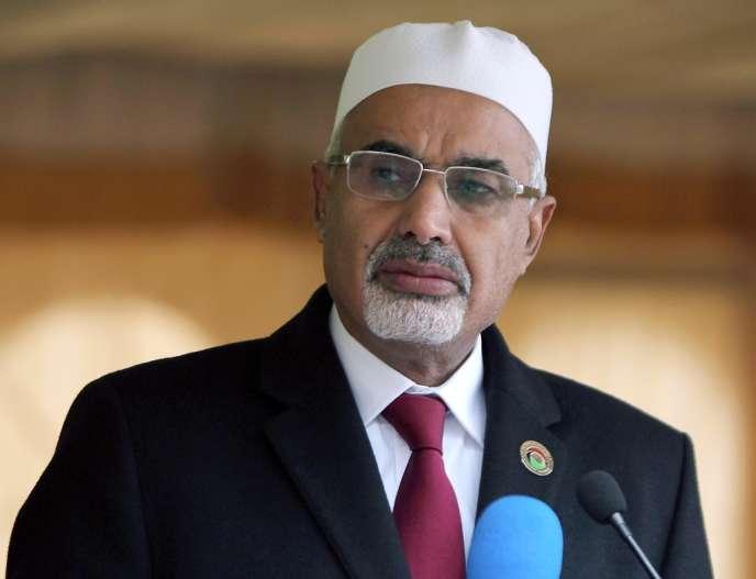 Mohamed al-Megaryef, président démissionnaire du parlement libyen, le 17 février.