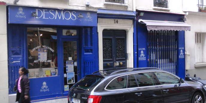 La librairie grecque Desmos, à Paris.