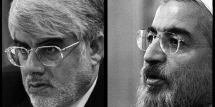 Le religieux Hassan Rohani et l'ancien vice-président Mohammad Reza Aref.