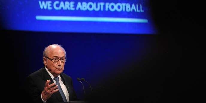 Sepp Blatter, le 24 mai à Londres.