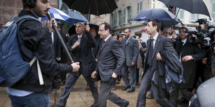 François Hollande, en visite officielle à Rodez (Aveyron), mercredi 29 mai.