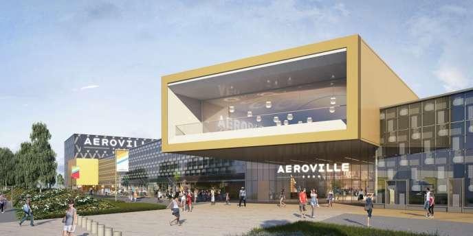 Le futur centre commercial Aéroville, près de Roissy, ouvrira ses portes le 17 octobre.