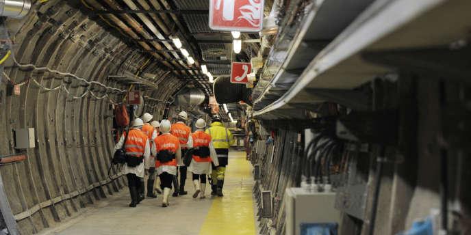 Dans le laboratoire de recherche souterrain de Bure.