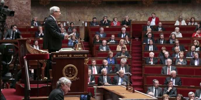 Claude Bartolone, président de l'Assemblée nationale, au Palais-Bourbon le 28 mai.