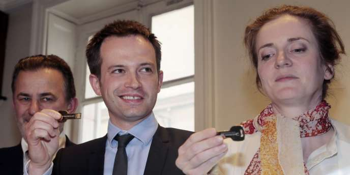 Pierre-Yves Bournazel (au centre) au moment du lancement du scrutin vendredi 31 mai, avec Jean-François Legaret et Nathalie Koisciusko-Morizet.
