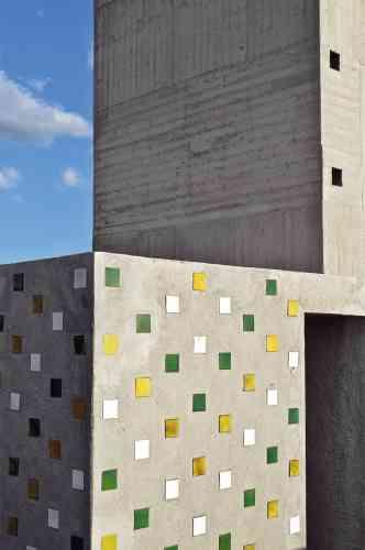 Béton brut et carreaux  de céramique : Ora-ïto  n'a pas touché au  style de Le Corbusier. -