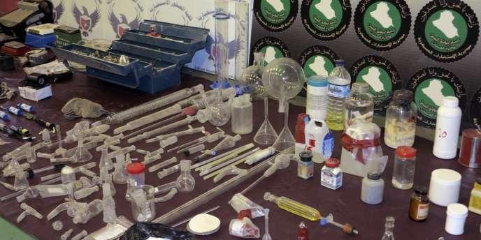 Les autorités irakiennes ont démantelé une cellule d'Al-Qaïda qui fabriquait du gaz sarin et du gaz moutarde, le 1er juin à Bagdad.