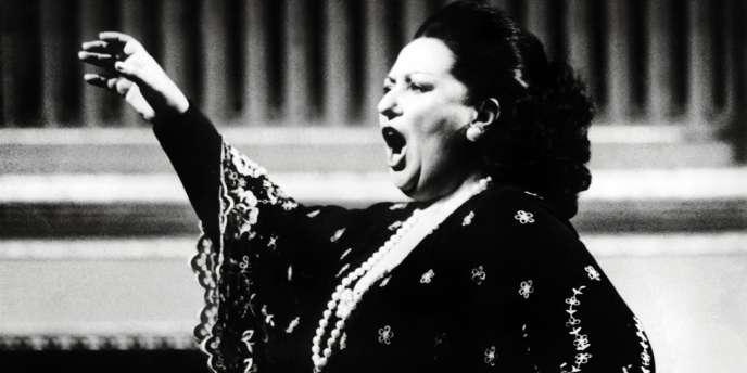 La soprano espagnole Montserrat Caballé en concert à Vienne, en 1979.