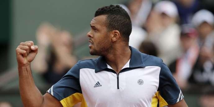 Jo-Wilfried Tsonga, dimanche à Roland-Garros.