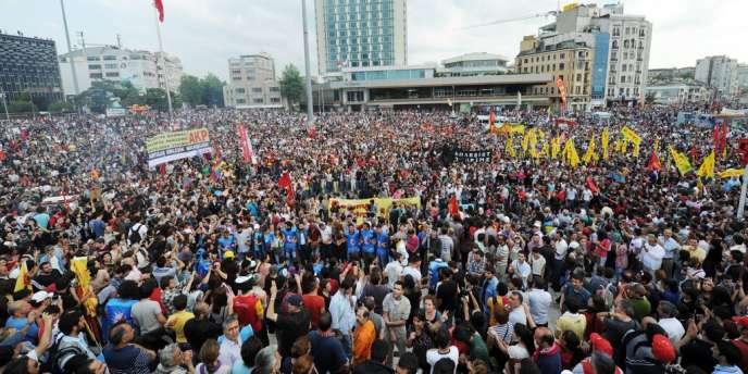 Sur la place Taksim, le 2 juin.