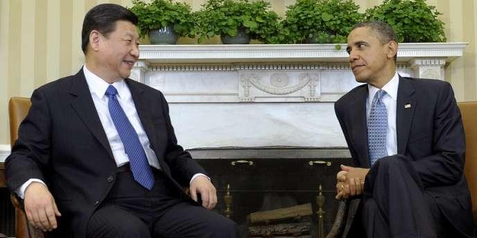 Le président Barack Obama et son homologue chinois Xi Jinping, le 14 février à Washington.