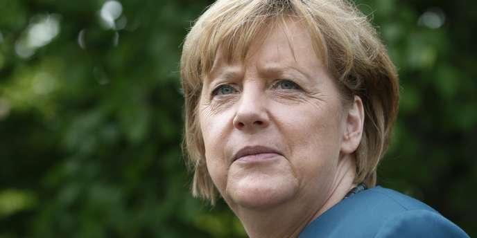 Angela Merkel, le 31 mai à Grimmen.