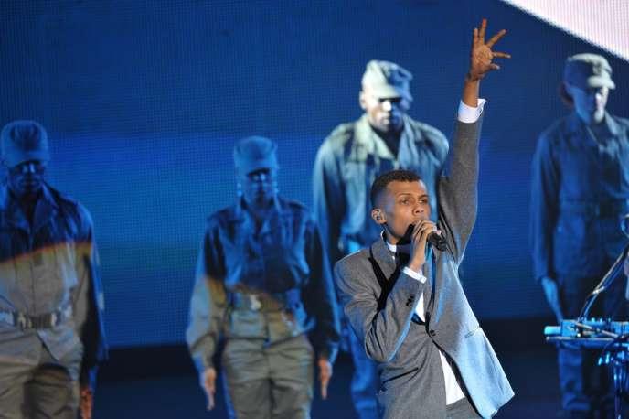 Le chanteur belge Stromae lors des 27es Victoires de la musique à Paris, le 3 mars 2012.