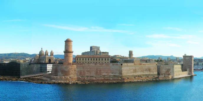 Le J4 et le fort Saint-Jean à Marseille.