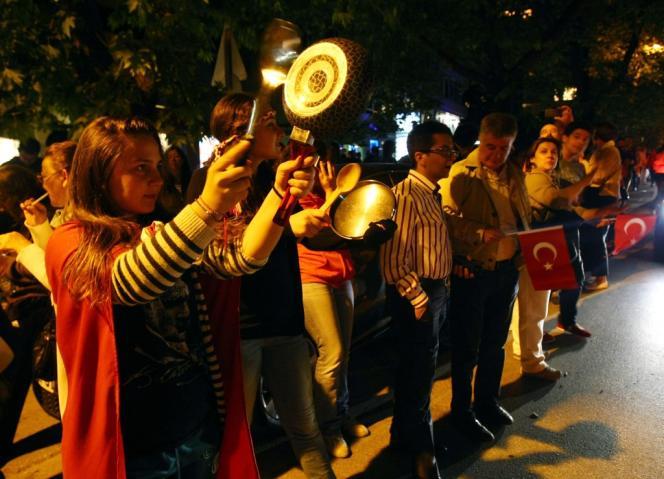 Dans les rues d'Ankara, le 3 juin.