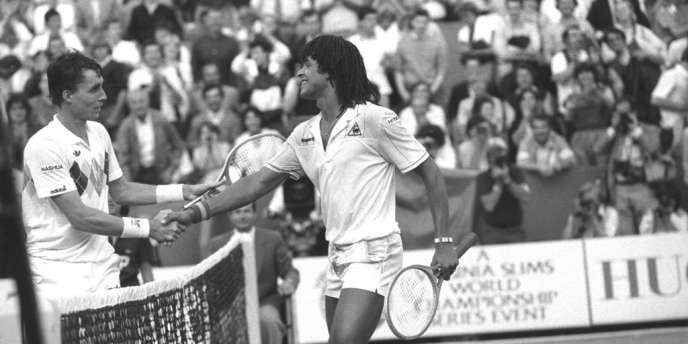 Mardi 31 mai 1983, Yannick Noah bat le Tchécoslovaque Ivan Lendl (n°3) 7-6, 6-2, 5-7, 6-0.